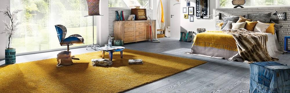 Raumbild Joka Bodenbelag Teppich vintage