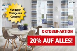 Oktober-Aktion, 20% auf alles außer Dienstleistungen.