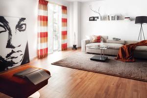 Wohnzimmer Joka Teppich Parkett Laminat